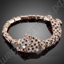 Великолепный позолоченный браслет с фианитами в виде леопарда