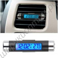 Автомобильный термометр с часами