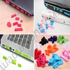 Заглушки силиконовые от пыли для разъёмов в ноутбуке (набор из 13 шт.)