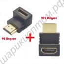HDMI соединитель-уголок
