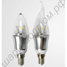 Светодиодная лампа-свеча с цоколем Е14, 10Вт, 220В
