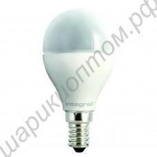 LED лампа шар матовый Е14, 6 Вт, 220В