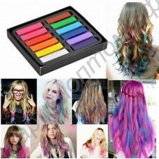 Пастель (мелки) для волос, набор из 12 цветов