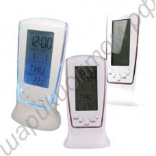 Часы-будильник электронные с термометром