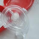Маска для дыхания рот в рот с односторонним клапаном для обучение первой медицинской помощи