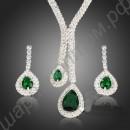 Восхищающий глаз набор украшений с зелёными фианитами