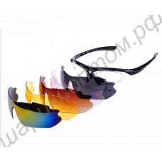 Солнцезащитные поляризационные велосипедные спортивные очки со сменными стёклами и возможностью поставить линзы с диоптриями