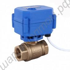 Кран шаровый с электроприводом DN15 для систем предотвращения протечек воды