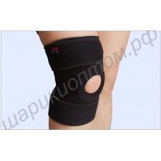 Суппорт коленного сустава с демферной подушкой, силиконовыми противоскользящими полосками и гибкими пластинами