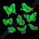 Светящиеся в темноте флуоресцентные бабочки (набор, 8 шт)