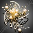 Чудесная брошь в виде имитации золотого фейерверка