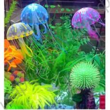 Аквариумные медузы декоративные разноцветные