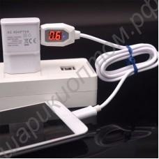Кабель USB - microUSB зарядный с вольтметром и амперметром