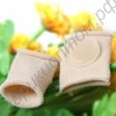 Тканевое кольцо на палец с силиконовой защитой косточки для скрещенных пальцев ног