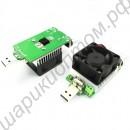 Мощный USB реостат с двумя регуляторами, радиатором охлаждения с вентилятором для проверки ёмкости пауэрбанков