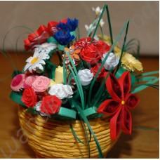 Оригинальный букет из бумажных цветов