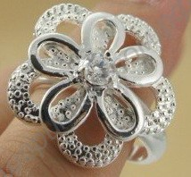 Кольцо Five uniflora silver plated ring