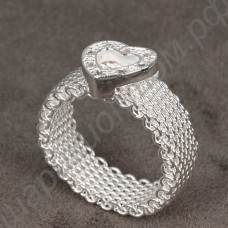 Кольцо Love imitation Diamond Net Heart