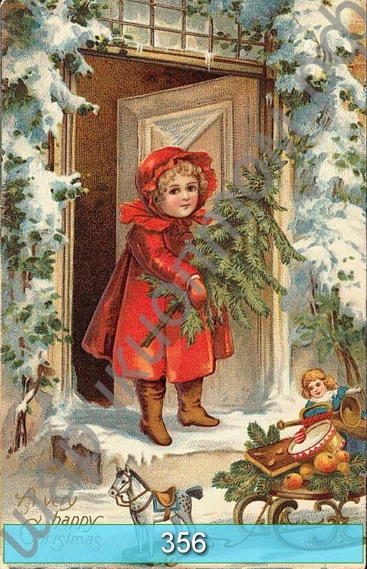 Винтажные открытки рождественские 14