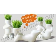 Человечки с травой на голове (экочеловечки, травянчики)