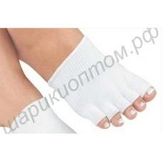 Гелевые spa полуноски для пальцев ног против сухости и трещин, 1 пара