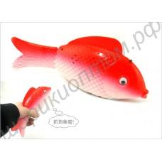 Рыбка на колёсиках со светодиодом и музыкой