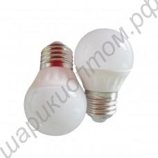 Светодиодная лампа (LED) Е27 3Вт, шар матовый