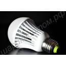 Светодиодная лампа (LED) Е27 9Вт, шар матовый