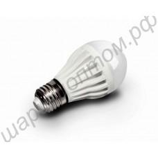 Светодиодная лампа (LED) Е27 15Вт (аналог 100Вт лампы накаливания), шар матовый