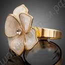 Кольцо позолоченное в виде скромного цветочка