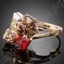 Кольцо позолоченное с австрийскими кристаллами-кубиками