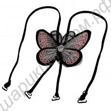 Бретели для лифчика, топа регулируемые с бабочкой