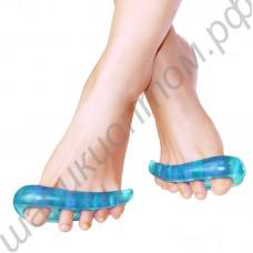Разделитель пальцев ног силиконовый (ночной, ортопедический), 1 пара