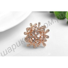 Кольцо ROXI Fashion Rose Gold Plated Pearl Flower Ring Party
