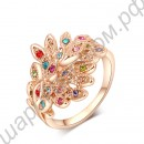 Кольцо 18K Rose Gold Plated Drill Peacock Ring Nice
