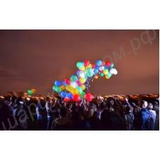 Разноцветные светящиеся шары диаметром 40 см (16 дюймов) - красный, синий, зелёный, белый, жёлтый - с гелием