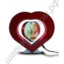 Фоторамка левитационная в виде вращающегося сердца