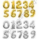 Фольгированные шары-цифры с гелием