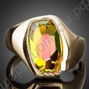 Кольцо с камнем хамелеон, покрытое золотом