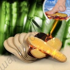 Бамбуковые тёплые стельки с нейтрализатором неприятных запахов, 1 пара