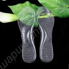 Силиконовые прозрачные самоклеящиеся стельки для обуви на каблуках, 1 пара