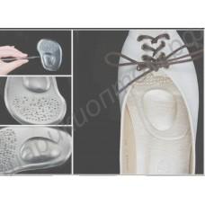 Вкладка силиконовая с бугорком в обувь на каблуках, 1 пара