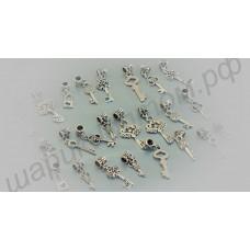 Набор подвесок для браслетов пандора в виде миниатюрных ключиков (24 шт.)