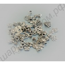 Разнообразные подвески для браслетов пандора (30 шт. в комплекте)