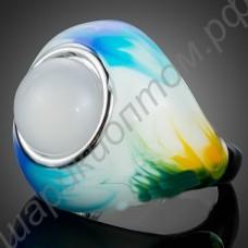 Кольцо эмалированное с эмуляцией жемчуга