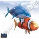Летающая рыба на радиоуправлении, наполненная гелием