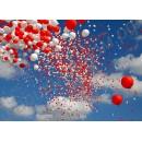 Салют из воздушных шаров, наполненных гелием