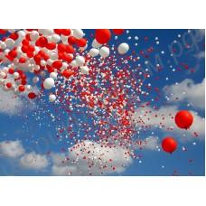 Салют (фейерверки) из воздушных шаров, наполненных гелием, с доставкой