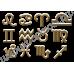 Кошелёк с изображением знака Зодиака Водолей