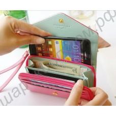 Женский кошелёк с отделом для смартфона. Модель 008